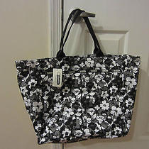 New With Tags Lesporsac Deluxe Everygirl Tote Shadow Blossom Extra Large Photo