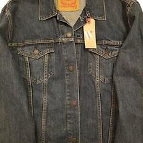New With Tags Levi Strauss & Company Men's Size Xxl Denim Blue Jean Jacket  Photo