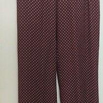 New With Tags Theory Silk Pants Burgundy White and Blue Mitrana Perennial Size S Photo