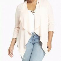 New With Tags Torrid Crepe Drape Front Blazer Blush Pink Size 3 Photo