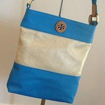 New With Tags - Tory Burch Pierson Swingpack in Natural/tahitian Turq Photo