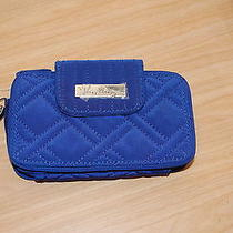 New With Tags Vera Bradley Cobalt Microfiber Navy Blue   Smartphone Wristlet 2.0 Photo