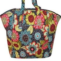 New With Tags Vera Bradley Flower Shower  Travel Tote Bag Purse Luggage Photo