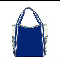 New With Tags Vera Bradley Large Colorblock Tote in Marina Paisley Photo