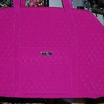 New With Tags Vera Bradley Magenta Pink  Microfiber Large Duffel Duffle Photo