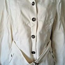 New With Tags Women's Talbots Button Front Trench Jacket Beige Size 10 Photo