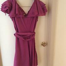 New With Tags Zac Posen for Target Pink Rose Flutter Layered Dress Large Photo