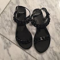 New Without Box Ladies Givenchy Rubber Chain Slipper Black Size 6 Photo