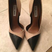New Without Box Steve Madden Paigely d'orsay Stiletto Heels Blush/black Size 9 Photo