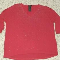 New Without Tag Womens Design History Red Bling Blouse Shirt Xxl Photo