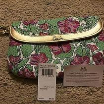 New Without Tags Beautiful Floral Coach Clutch Wristlet Photo