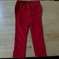 New Without Tags Girls Size 2 Years Red Corduroy Jeggings by Baby Gap Photo
