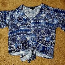 New Without Tags Karen Kane Women's Top Blue Size Large v-Neck Paid 115 Photo