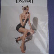 New Wolford Luxe 9 Toeless Tights Size Large Color Cosmetic Photo