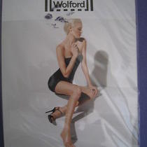 New Wolford Luxe 9 Toeless Tights Size Large Color Gobi (Beige) Photo