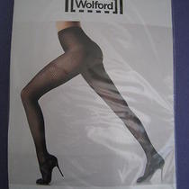 New Wolford Marie Tights Size Medium Navy 58.00 19160 5452 Photo