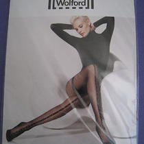 New Wolford Roxette Tights Sahara and Black Size Medium Photo