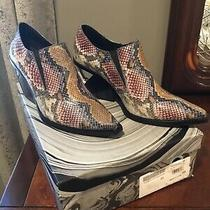New Womans Jeffrey Campbell Multi Colored Snake Skin Flux Bootie Size 8.5 Photo