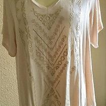 New Woman's Nude Blush Top by Max Jeans Size 1x Nwt Photo
