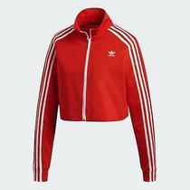 New Women Adidas Originals Fashion Week Track Jacket Red (Dh2726) Sz Lg Photo