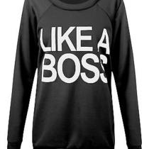 New Women Dope Like a Boss Slogan Sweatshirt Pullover Jumper Sweat Top Photo