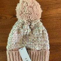 New Women Girl Winter Warm Hat  With Pompon Blush Pink Multicolor Photo