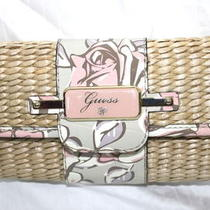 New Women Guess    Flap Clutch  Rose  Handbag  Purse  Photo