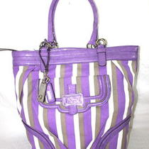 New Women Guess    Satchel Purple   Handbag  Purse  Photo