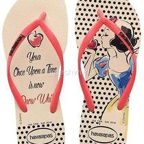 New Women Havaianas Slim Princess Disney Snow White Sandal Flip Flops Beige Red Photo