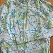 New Women Lucy Brand Aqua Lime Green Floral Athletic Running Jacket Xl Nwot Photo
