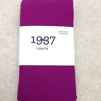 New Women Madewell Opaque 1937 Tights Purple Size M/l Photo