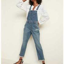 New Women's 10p 18 Old Navy Distressed Boyfriend Jean Overalls Photo