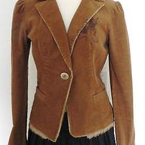 New Women's Abs by Allen Schwartz Blazer Size 8(fits s)   Brown Tone   Corduroy Photo
