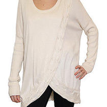 New Women's Addison Cable Swing Sweater in Eggshell Size M 228 Photo