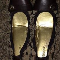 New-Women's Coach Chelsea Brown Signature Ballet Flats 6.5 Photo
