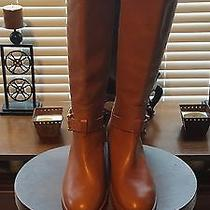 New Women's Coach Luggagg/gold Leather Boots Size 8 Photo