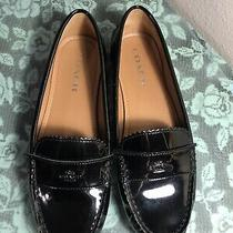 New Womens Coach Odette Shoes Flats Loafers Patent Leather Black Sz 8b Photo