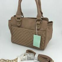New Women's Deux Lux Blush Powder Beige Tote Crossbody Bag Photo