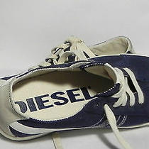 New Women's  Diesel Sneakers/  Navy/ White Trim/ Size 7.5/ Canvas/ Lace Ups Photo