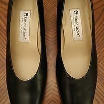 New Women's Etienne Aigner Sarah Black Leather Med Heel Pumps Shoes Size 10 M Photo