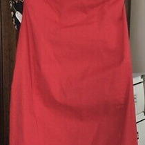 New Women's Express Red Cocktail Dress Strapless Size 6 Photo