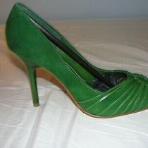 New Women's Guess by Marciano Size 8 Green Suede High Heel Shoe Photo