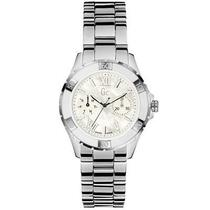 New Women's Guess Collection Silver Tone Stainless White Gc Watch X75001l1s Photo