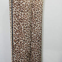 New Women's Guess Silky Smooth Leopard Stripe Jeans Casual Pants 2 Poket Size M Photo