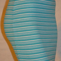 New Women's Guess Striped Blue/white Mini Skirt Sz M Photo