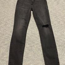 New Womens Hudson Blair High Rise Super Skinny Distressed Ankle Jeans 25 Photo