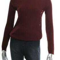 New Women's Junior Hippie Rose Burgundy Bloom Sweater Size Medium Photo