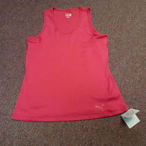 New Women's Puma Ribbed Performance Tank Top Pink Xl Dry Cell  Photo