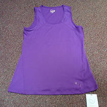 New Women's Puma Ribbed Performance Tank Top Purple Xl Dry Cell  Photo