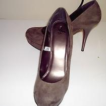New Women's Size 8.5 Bm  Taupe Micro Suede Platform 3 in & Up Heels by Mossimo Photo
